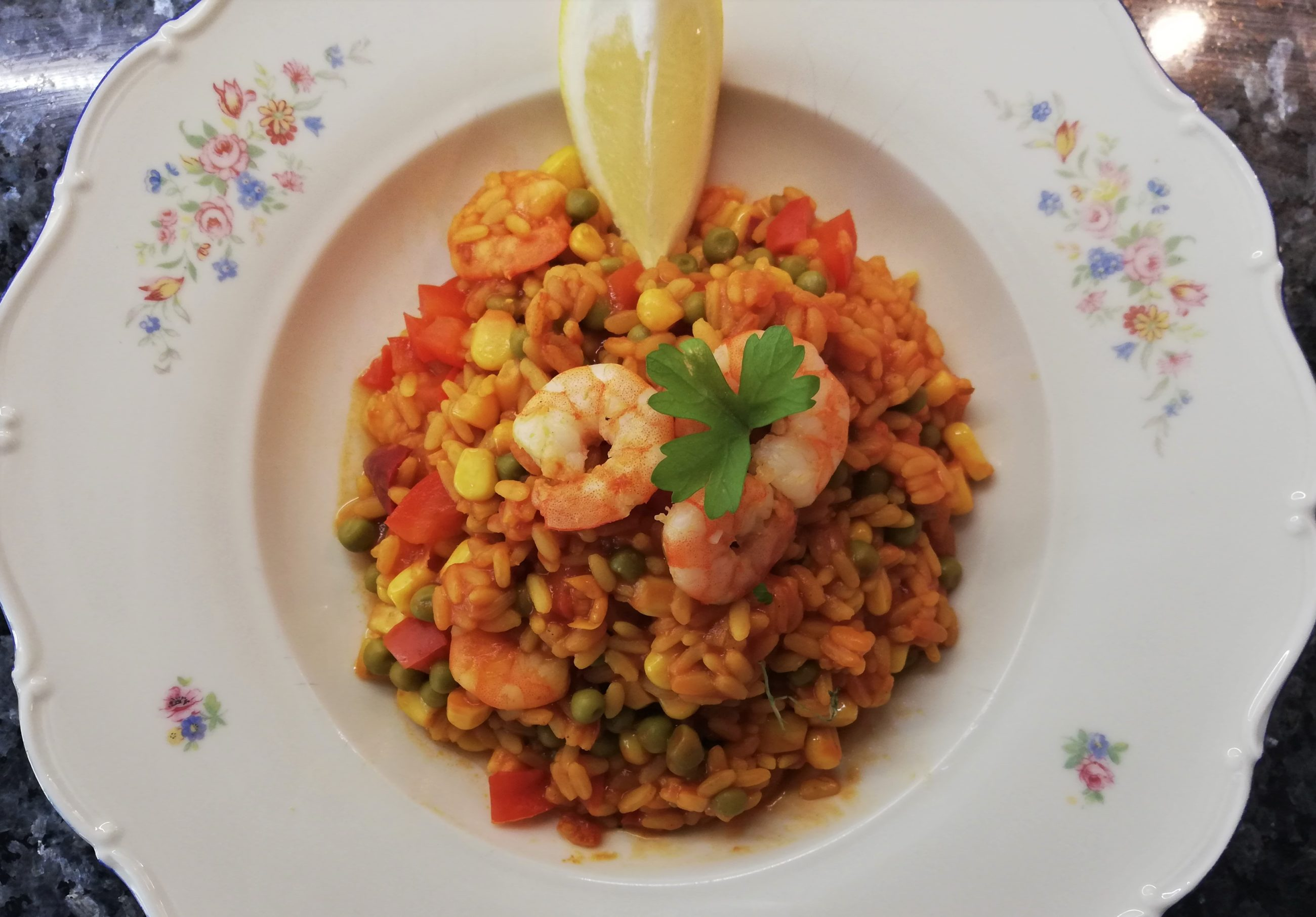 einfache paella mit shrimps holiday2be